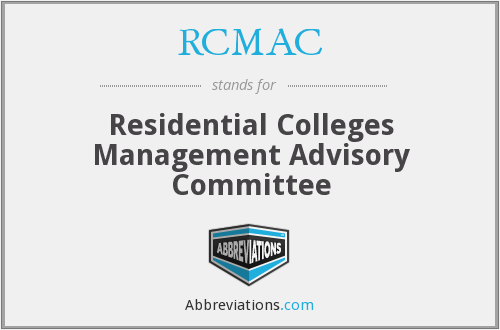 RCMAC - Residential Colleges Management Advisory Committee