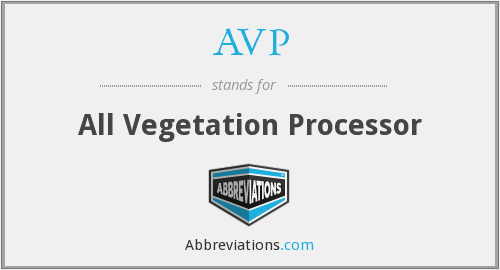 AVP - All Vegetation Processor