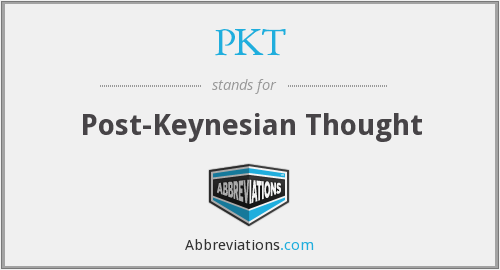 PKT - Post-Keynesian Thought