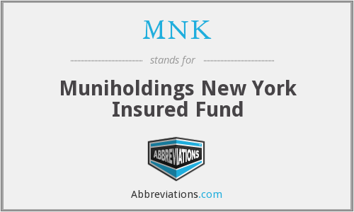 MNK - Muniholdings New York Insured Fund