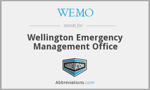 WEMO - Wellington Emergency Management Office