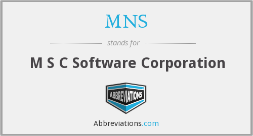 MNS - M S C Software Corporation
