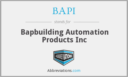 What does BAPI stand for?