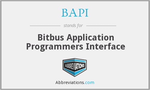 BAPI - Bitbus Application Programmers Interface