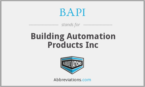 BAPI - Building Automation Products Inc
