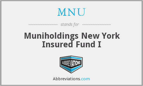 MNU - Muniholdings New York Insured Fund I