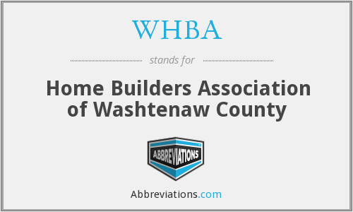 What does WHBA stand for?