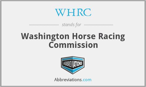 WHRC - Washington Horse Racing Commission