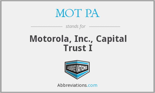 what does mot pa stand for. Black Bedroom Furniture Sets. Home Design Ideas