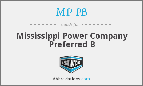 What does MP PB stand for?