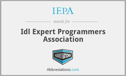 IEPA - Idl Expert Programmers Association
