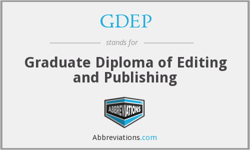 GDEP - Graduate Diploma of Editing and Publishing
