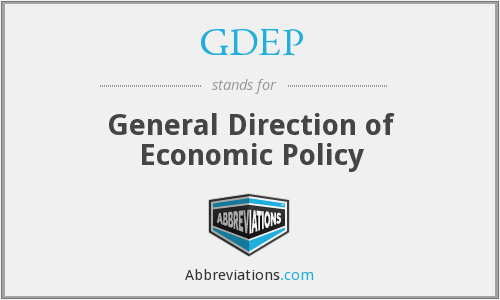 GDEP - General Direction of Economic Policy