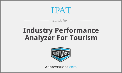IPAT - Industry Performance Analyzer For Tourism