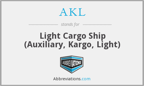 AKL - Light Cargo Ship (Auxiliary, Kargo, Light)
