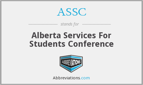 ASSC - Alberta Services For Students Conference