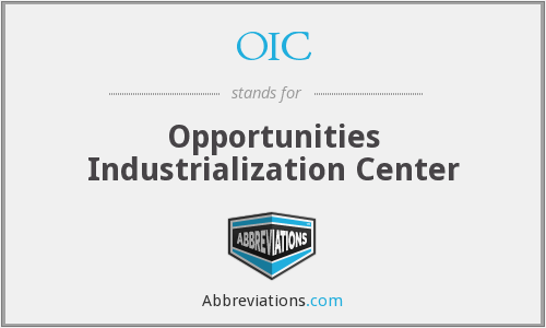 OIC - Opportunities Industrialization Center