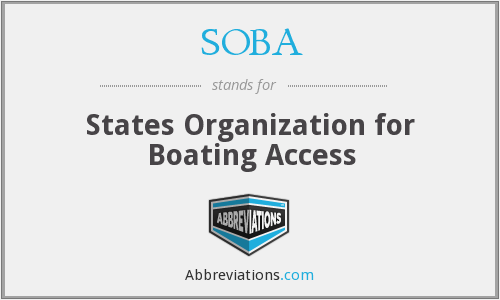 SOBA - States Organization for Boating Access