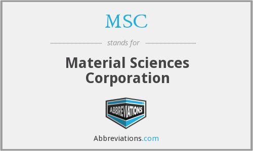MSC - Material Sciences Corporation