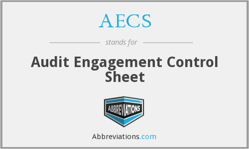 AECS - Audit Engagement Control Sheet