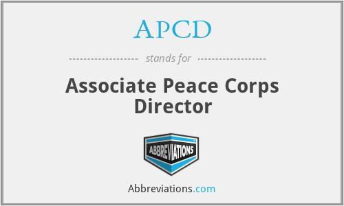 APCD - Associate Peace Corps Director