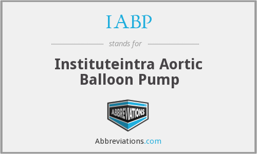 IABP - Instituteintra Aortic Balloon Pump