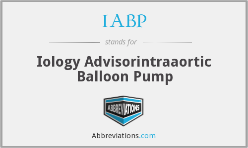 IABP - Iology Advisorintraaortic Balloon Pump