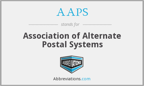 AAPS - Association of Alternate Postal Systems
