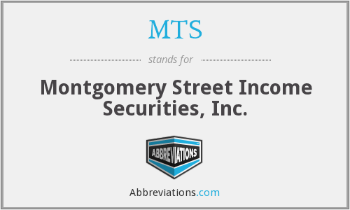 MTS - Montgomery Street Income Securities, Inc.