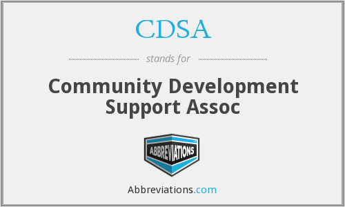 CDSA - Community Development Support Assoc
