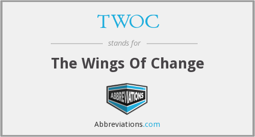 What does TWOC stand for?
