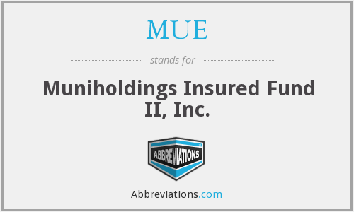 MUE - Muniholdings Insured Fund II, Inc.