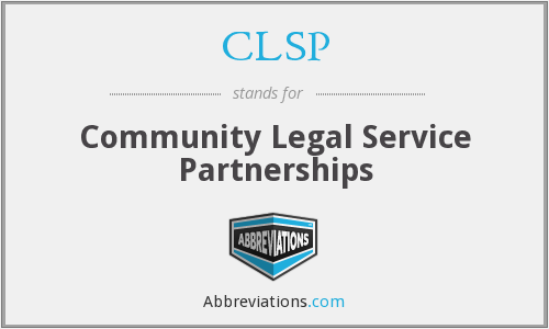 CLSP - Community Legal Service Partnerships