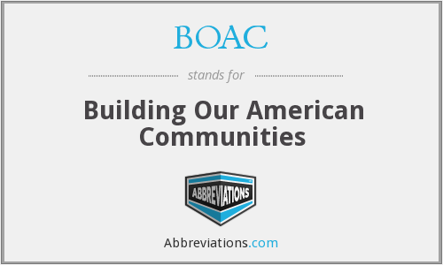 BOAC - Building Our American Communities
