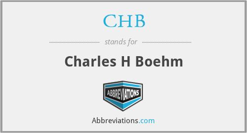 CHB - Charles H Boehm