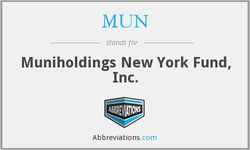 MUN - Muniholdings New York Fund, Inc.