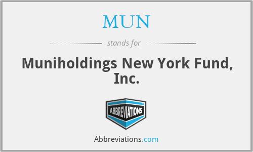MUN - Muniholdings New York Fund, Inc.