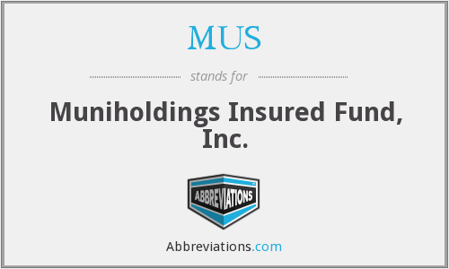 MUS - Muniholdings Insured Fund, Inc.