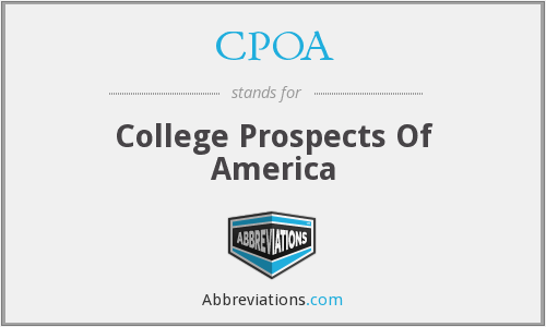 What does CPOA stand for?