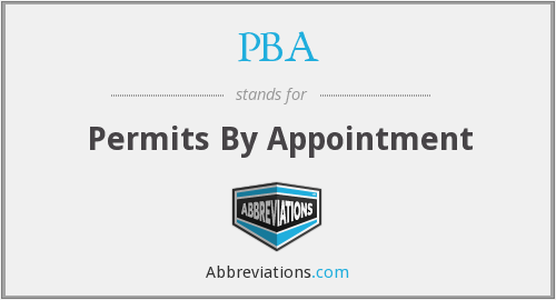PBA - Permits By Appointment