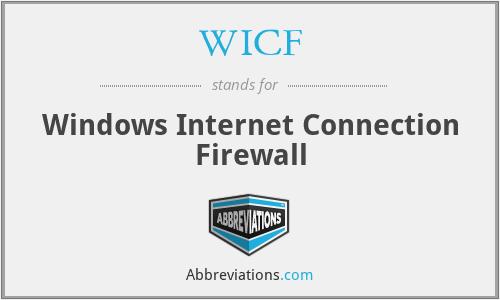 WICF - Windows Internet Connection Firewall