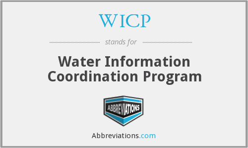 WICP - Water Information Coordination Program