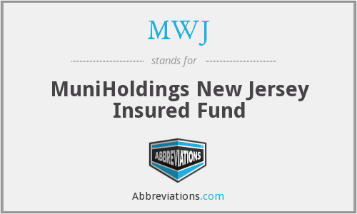 MWJ - MuniHoldings New Jersey Insured Fund
