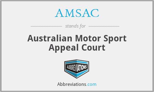 AMSAC - Australian Motor Sport Appeal Court
