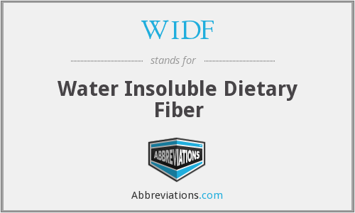 WIDF - Water Insoluble Dietary Fiber