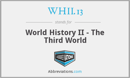 WHII.13 - World History II - The Third World