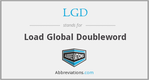 LGD - Load Global Doubleword