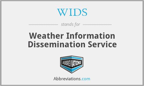 WIDS - Weather Information Dissemination Service