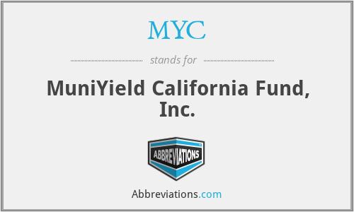 MYC - MuniYield California Fund, Inc.