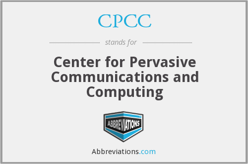 CPCC - Center for Pervasive Communications and Computing